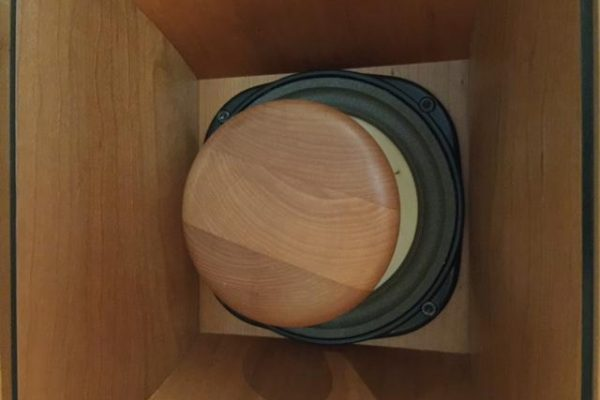 Beauhorn Virtuoso speaker with cherry wood cap.